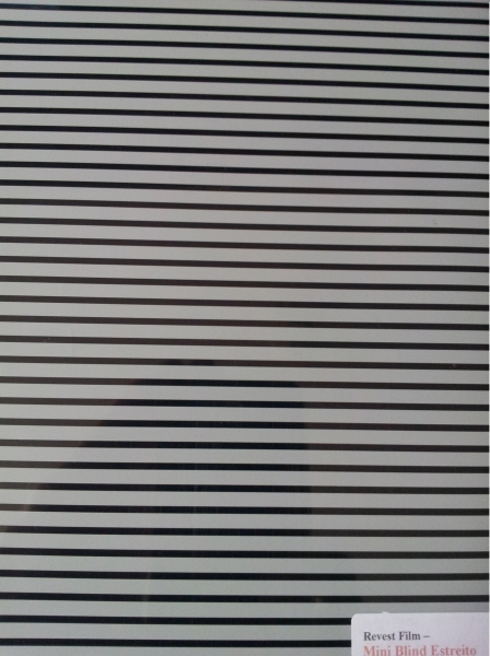 Mini Blind Branco Estreito