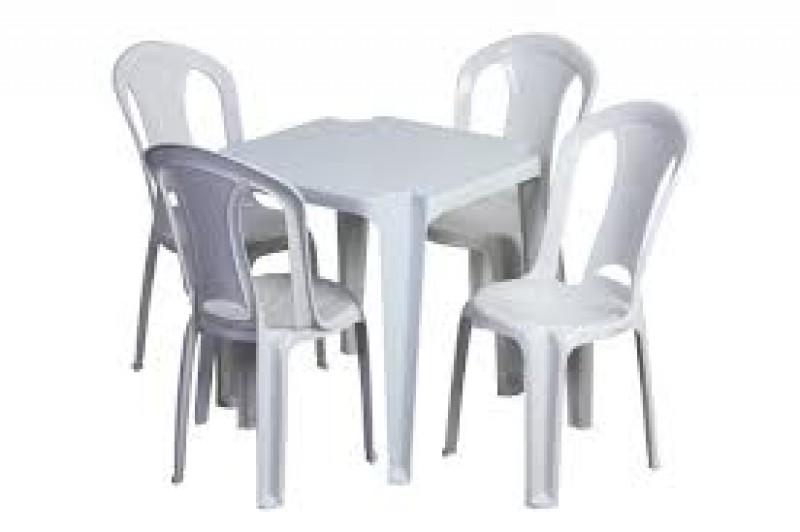Mesas de pl stico bares e restaurantes detalhes do - Mesas de jardin de plastico ...