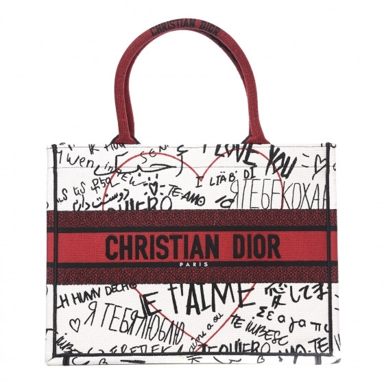 BOLSA DIOR BOOK TOTE CANVAS DIORAMUR GRAFFITI MULTICOLOR - 2.790,00 10 X 279,00