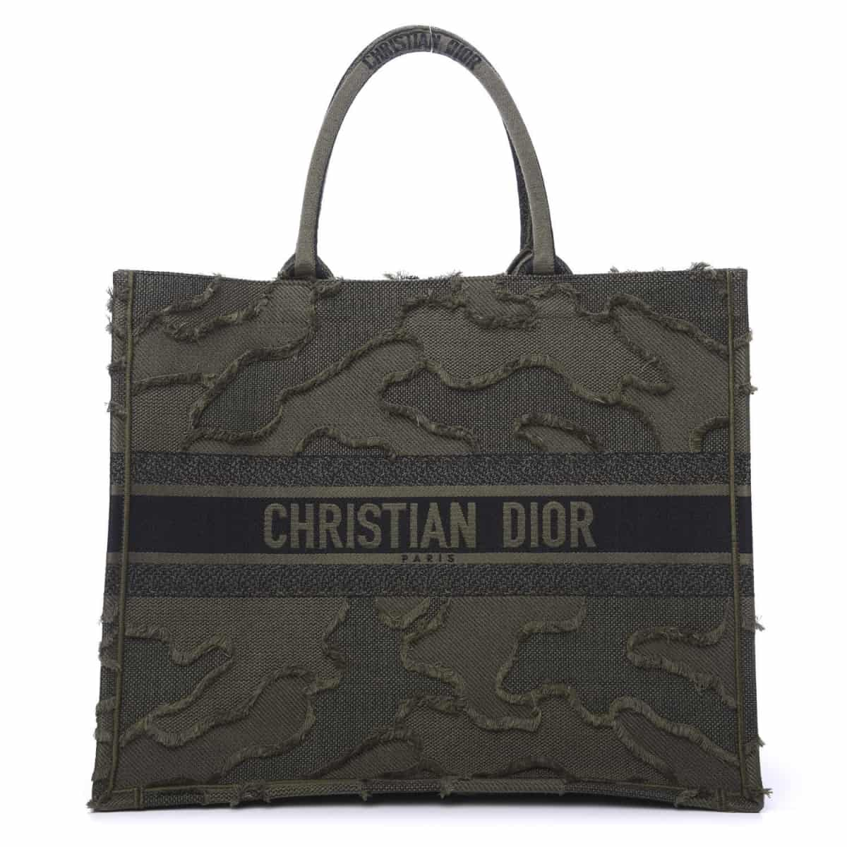BOLSA DIOR BOOK TOTE CANVAS EMBROIDERED CAMOUFLAGE VERDE - 2.790,00 10 X 279,00