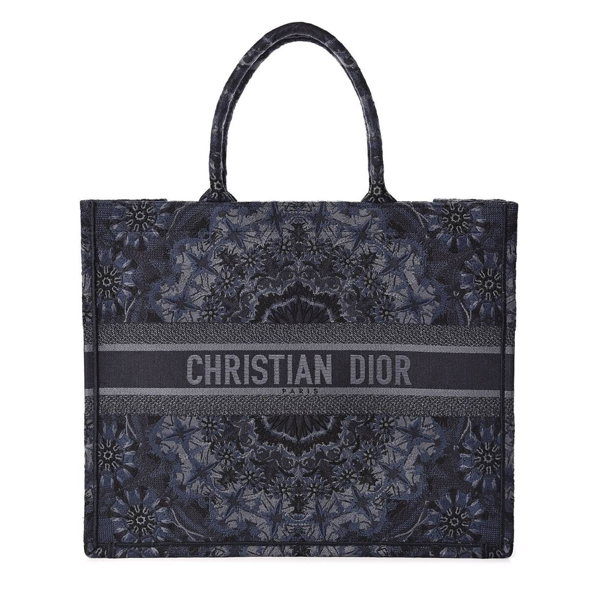 BOLSA DIOR BOOK TOTE CANVAS KALEIDIOROSCOPIC AZUL - 2.790,00 10 X 279,00