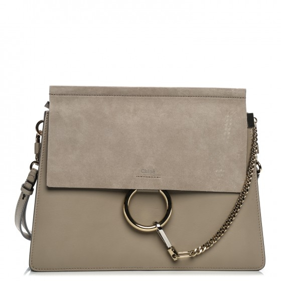 BOLSA CHLOÉ FAYE SHOULDER BAG CINZA - 2.990,00 10 X 299,00