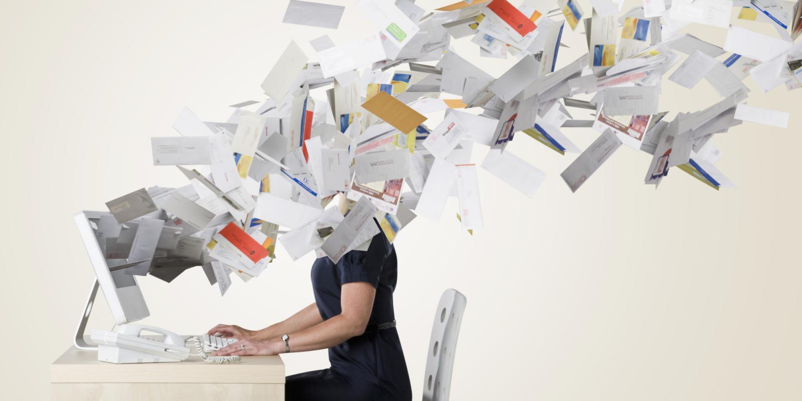 excesso de e-mail