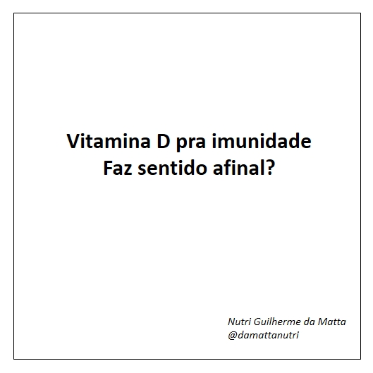 Vitamina D e Imunidade