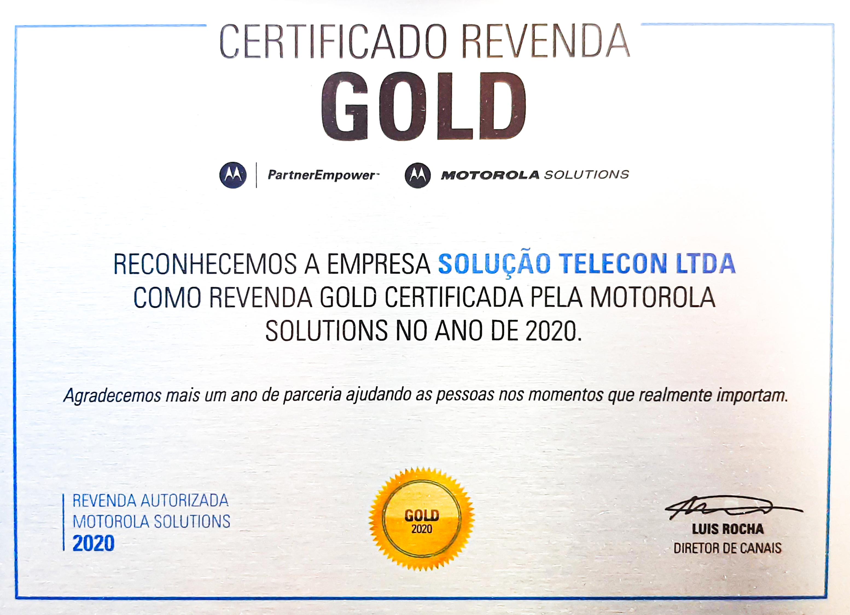 Parceiro do canal Ouro da Motorola Solutions
