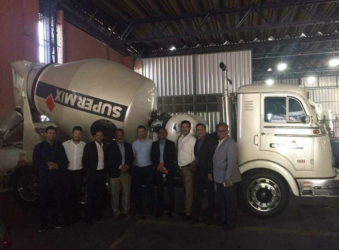 Deivson Vidal realizou visita a sede da Supermix Concreto S/a