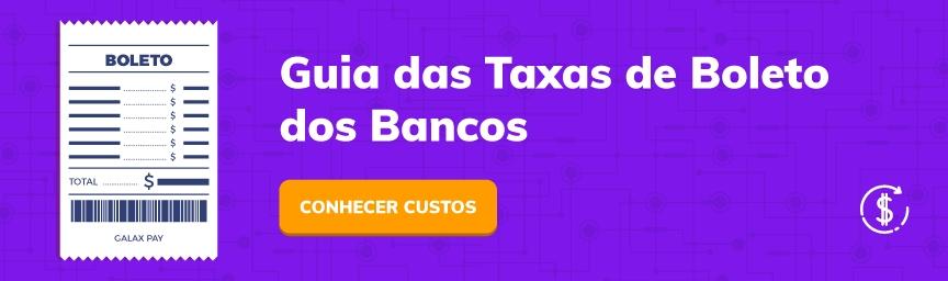 Tabela de tarifa dos bancos para emitir boletos